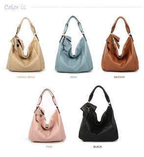 GENUINE LEATHER purse handbag HOBO TOTES SHOULDER Bag[WB1094]