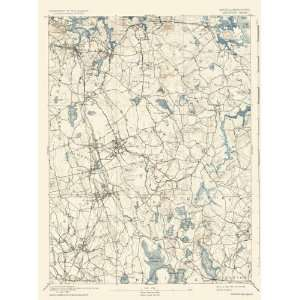 USGS TOPO MAP ABINGTON QUAD MASSACHUSETTS/MA 1893  Home