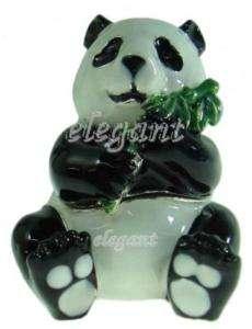 Panda Bear Jewellery Jewelry Jewel Crystals Trinket Box