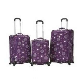 Fox Luggage Fusion Three Piece Luggage Set   Purple Pearl   18H x 11