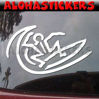 Car Auto Laptop Surf Hawaii Vinyl Decal Window Sticker H14