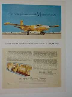 1961 ON MARK MARKSMAN B 26 AIRPLANE AD PRIVATE AIRCRAFT