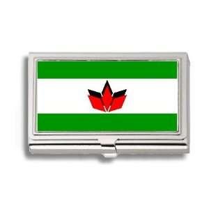 Hungarian Romanian Flag Business Card Holder Metal Case