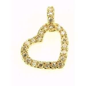 Kala isjewels   Ladies 18ct Gold Plated CZ  Heart  Pendant ( 1 )