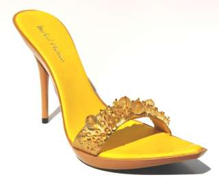 Micheal Antonio Yellow Sexy High Heel Womens Sandals Shoes (Retail $68