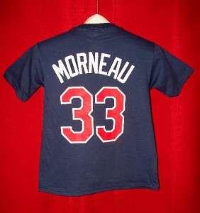 Minnesota Twins #33 JUSTIN MORNEAU T Shirt jersey YOUTH SMALL