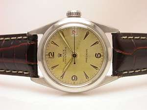 ROLEX OYSTERDATE PRECISION RED DATE STYLE 6066 HIGHLY POLISHED SOLID