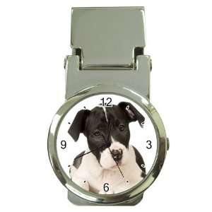 American Staffordshire Puppy Dog Money Clip Watch U0015