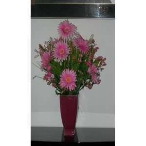 Pink Gerbera Daisy Silk Floral Arrangement Everything