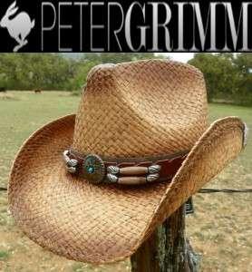 NEW Peter Grimm Headwear CONTRABAND Western Beach Straw Cowboy Hat NWT