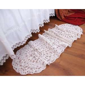 Vintage Handmade Butterburg White Cotton Table Runner