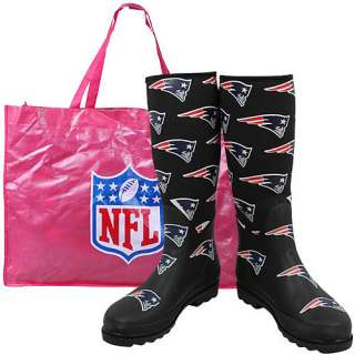 Cuce Shoes New England Patriots Womens Enthusiast Rain Boot