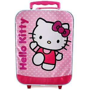Hello Kitty Rolling Luggage Case [Waving] : Toys & Games :