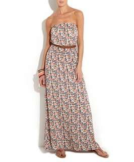 Blue Pattern (Blue) Blue Floral Bandeau Maxi Dress  254522749  New