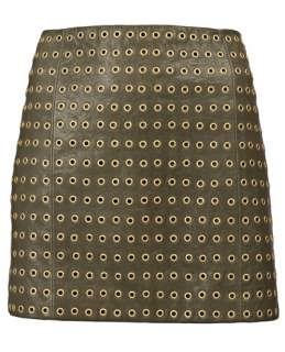 Haute Hippie Grommet Mini Skirt   Knit Wit   farfetch