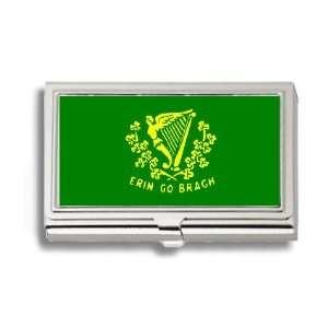 Erin Go Braugh Bragh Flag Business Card Holder Metal Case