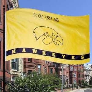 NCAA Iowa Hawkeyes Gold 3 x 5 Logo Flag:  Sports