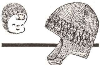 Vintage Baby Child Snow Hat Helmet Knitting PATTERN
