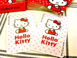 CUTE ~ Sanrio Hello Kitty Mini Playing Play Card  Red