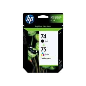 HP 74/75 Retail Combo Pack Contains 2 Cartridges HP 74 Black HP 75