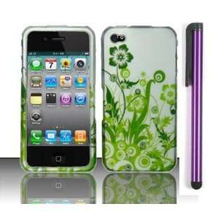 Apple Iphone 4, 4s Phone Protector Hard Cover Case Green