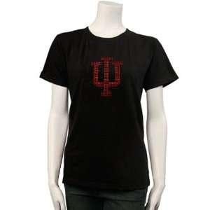 Indiana Hoosiers Black Jeweled Logo T shirt Sports