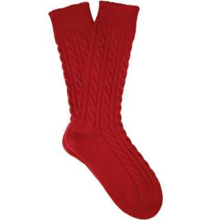 Accessories  Socks  Casual socks  Cable Knit