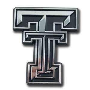 Texas Tech Red Raiders Car Emblem Silver New