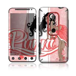 HTC Evo 3D Decal Skin Sticker   Puni Doll Pink Everything