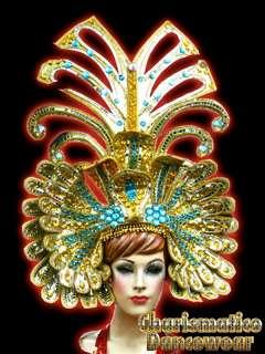 GOLD Drag Queen Pageant CABARET EGYPT CRYSTAL HEADDRESS