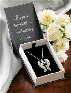 Angel Wings Cross Necklace