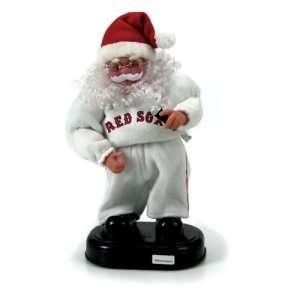 Boston Red Sox MLB Animated Rock & Roll Dancing Santa (12)