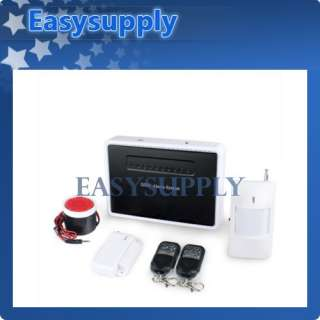 Home House Alarm GSM SMS Security System Voice Prompt + Water Sensors