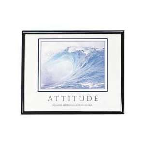 positive attitude is a powerful force. Poster includes black frame