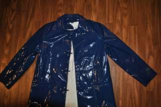 NWT RARE KATE SPADE COAT NAVY SLICKER RAIN JACKET SIZE 6