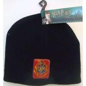 Harry Potter Hogwarts Crest Black Beanie Youth Size
