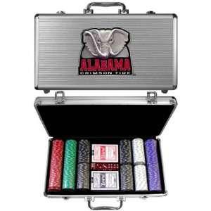 Alabama Crimson Tide 300 Piece Poker Game Set Sports