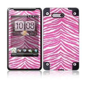 HTC HD Mini Decal Skin   Pink Zebra