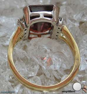 Topas Gold Ring Ringe 18 Kt 750 Gold Topase Diamanten Damen Antikring