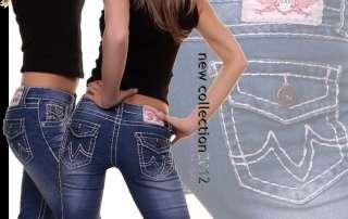 Capri Damen Jeans Shorts Hose 5 Farben stylische dicke Naht Neu ►36