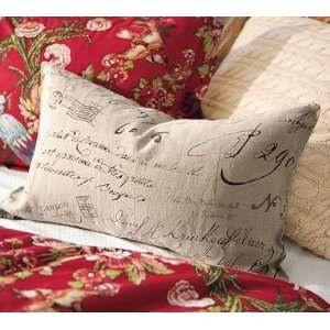 Pottery Barn Calligraphy Lumbar Pillow Cover Home