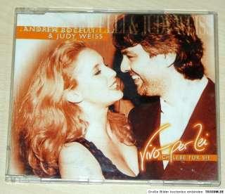 ANDREA BOCELLI JUDY WEISS VIVO PER LEI   MAXI CD