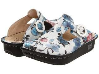 DONNA FANTASIA White Floral Leather Nursing Clogs Shoes DON 550