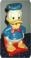 vt Walt Disney DONALD DUCK BANK Play Pal Plastics