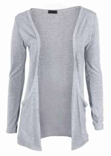 New Ladies Long Sleeve Top Womens Stretch Cardigan 8 14