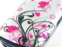 FOR LG NEON 2 II GW370 AT&T PINK FLOWER HARD COVER CASE