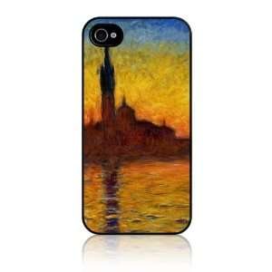 Apple iPhone 4 4S Slim Hard Case Cover   Claude Monet Venice Twilight