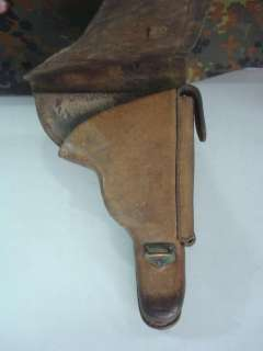 WWII ORIGINAL OFFICER'S LUGER P.08 LEATHER HOLSTER
