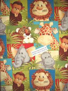 Jungle monkey elephant lion tiger giraffe Baby toddler Fleece Blanket