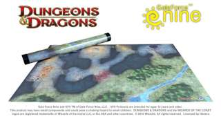 Dungeons Dragons Caves of Chaos Map Game Mat 30x20